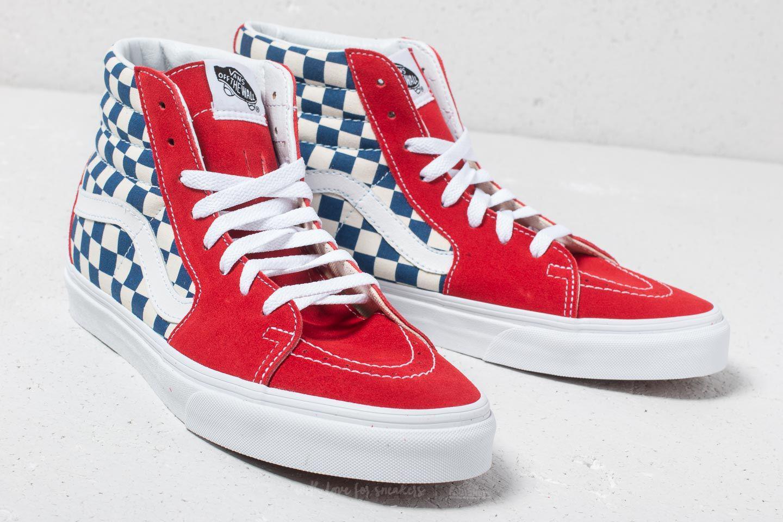 9fd8874afae1f9 Lyst - Vans Sk8-hi (bmx Checkerboard) True Blue  Red in Red for Men