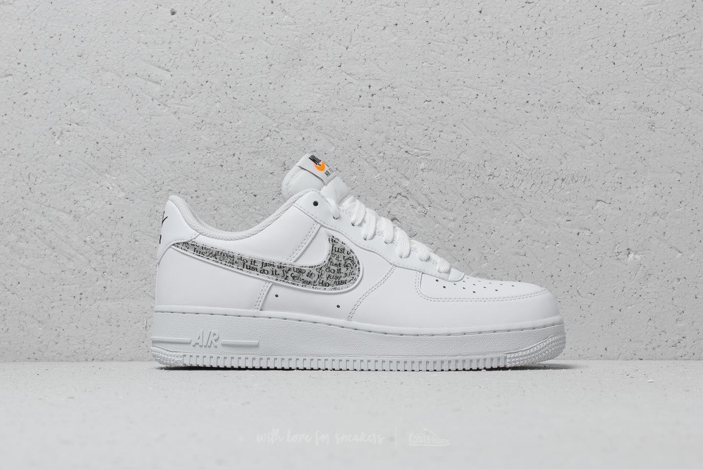 timeless design 2a340 96378 Lyst - Nike Air Force 1 ́07 Lv8 Jdi Lntc White  White-black-total ...