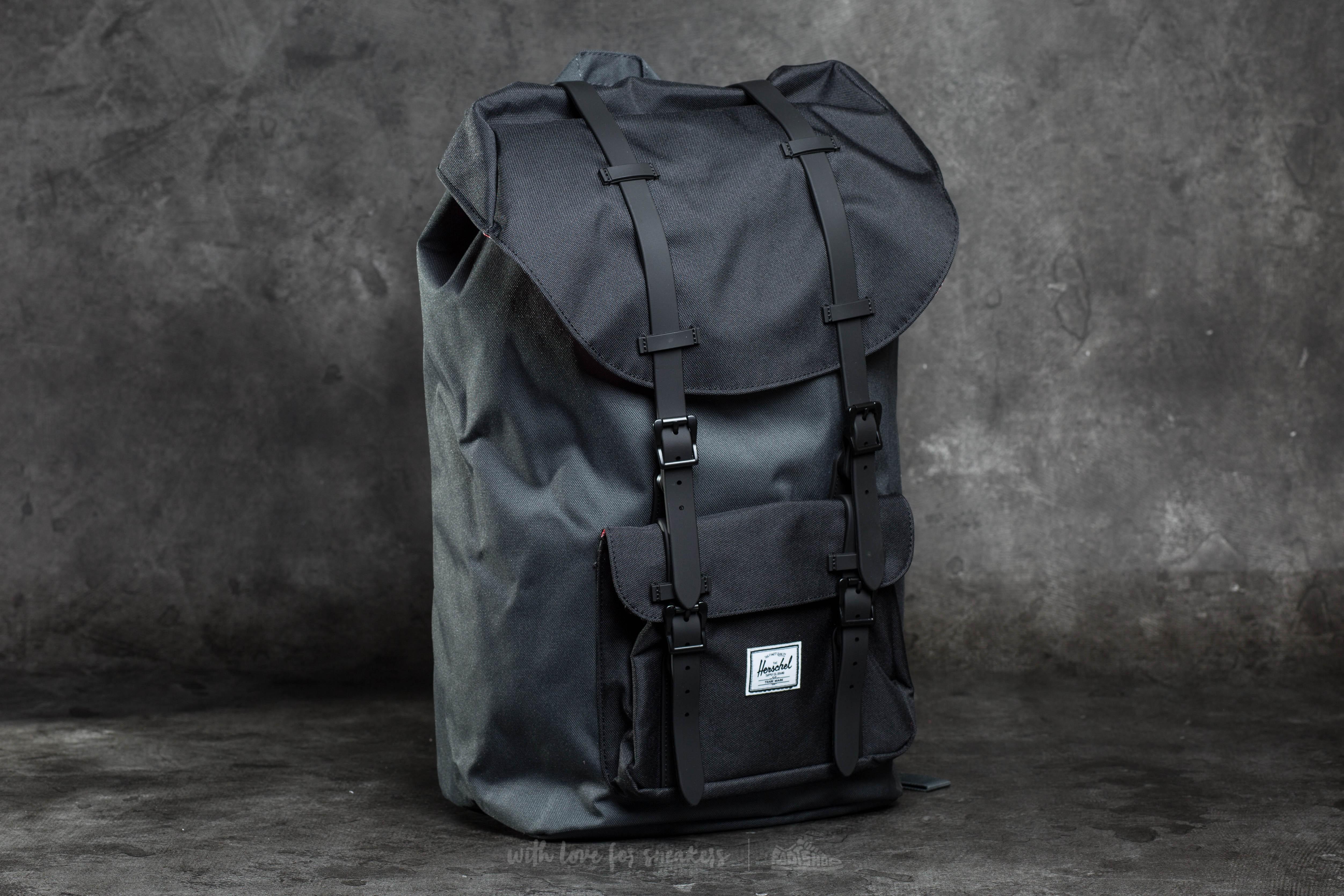 Lyst - Herschel Supply Co. Little America Backpack Dark Shadow ... d230cd89d97e0