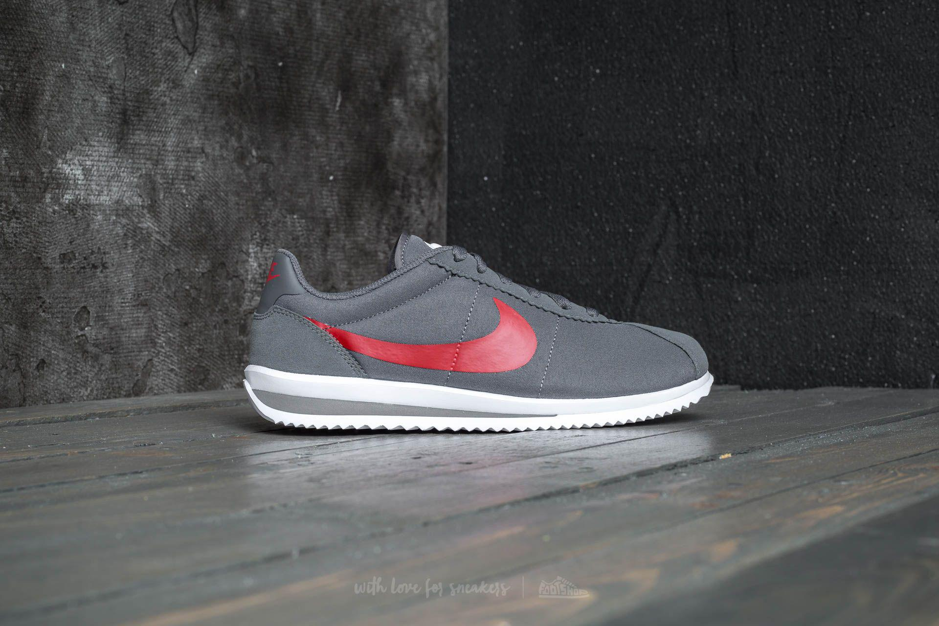 3a1a3d74690a closeout nike cortez white black university red e9cb9 5366a  best price lyst  nike cortez ultra gs dark grey university red in gray a75cf 4a026