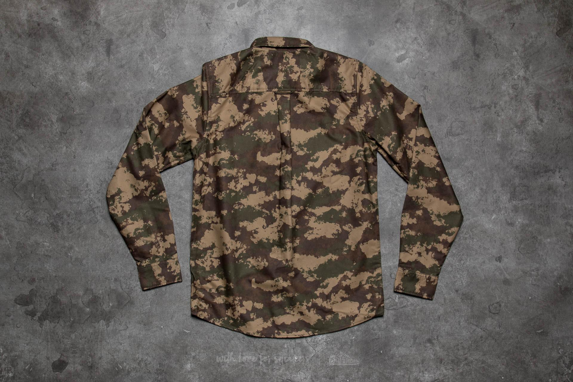 cce7d4a3 Carhartt WIP Camo Painted Shirt Camo Painted/ Green Rinsed in Green ...
