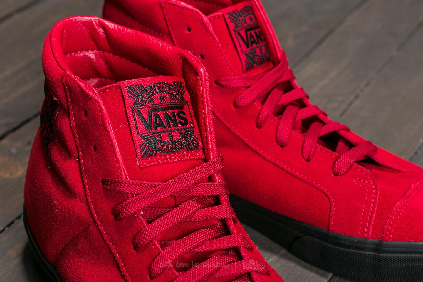 e9c6dd4cbaa8fe Lyst - Vans Style 238 (native Suede) Red  Black in Red for Men