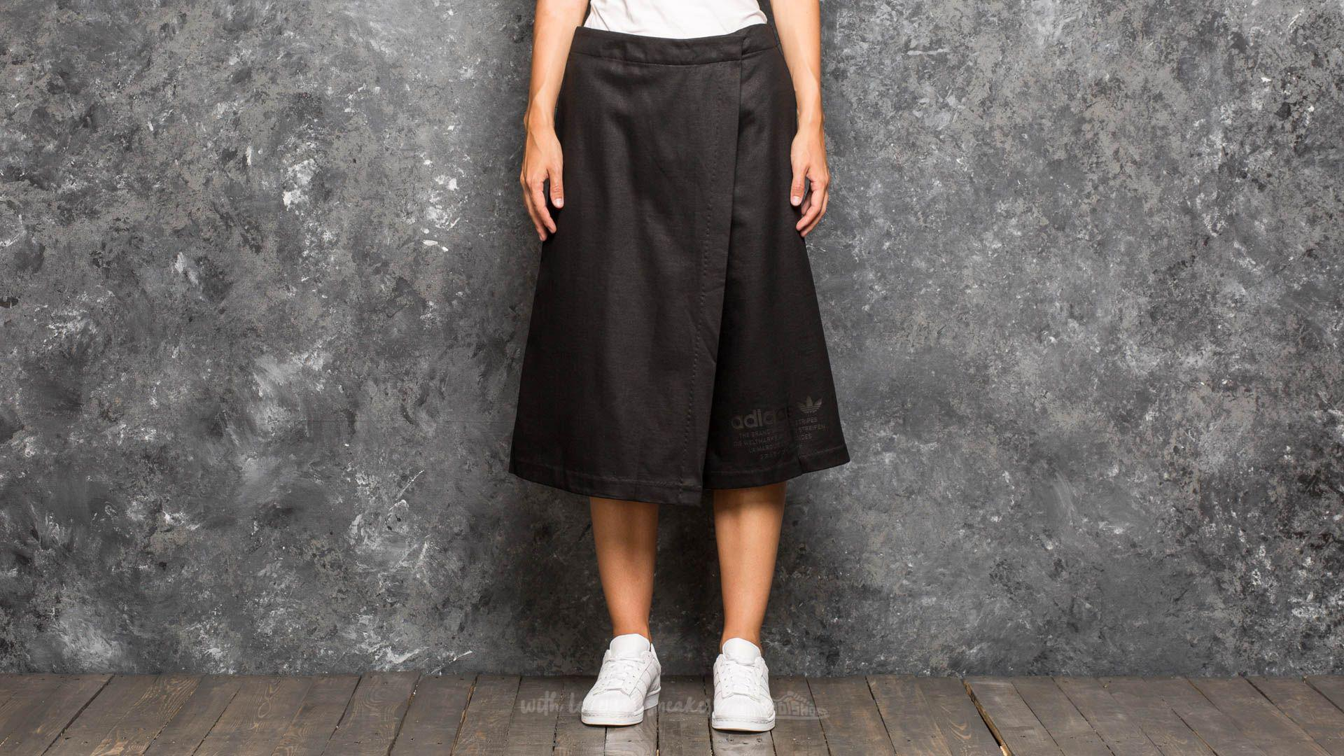 Lyst adidas Originals Adidas culotte pantalon negro en negro