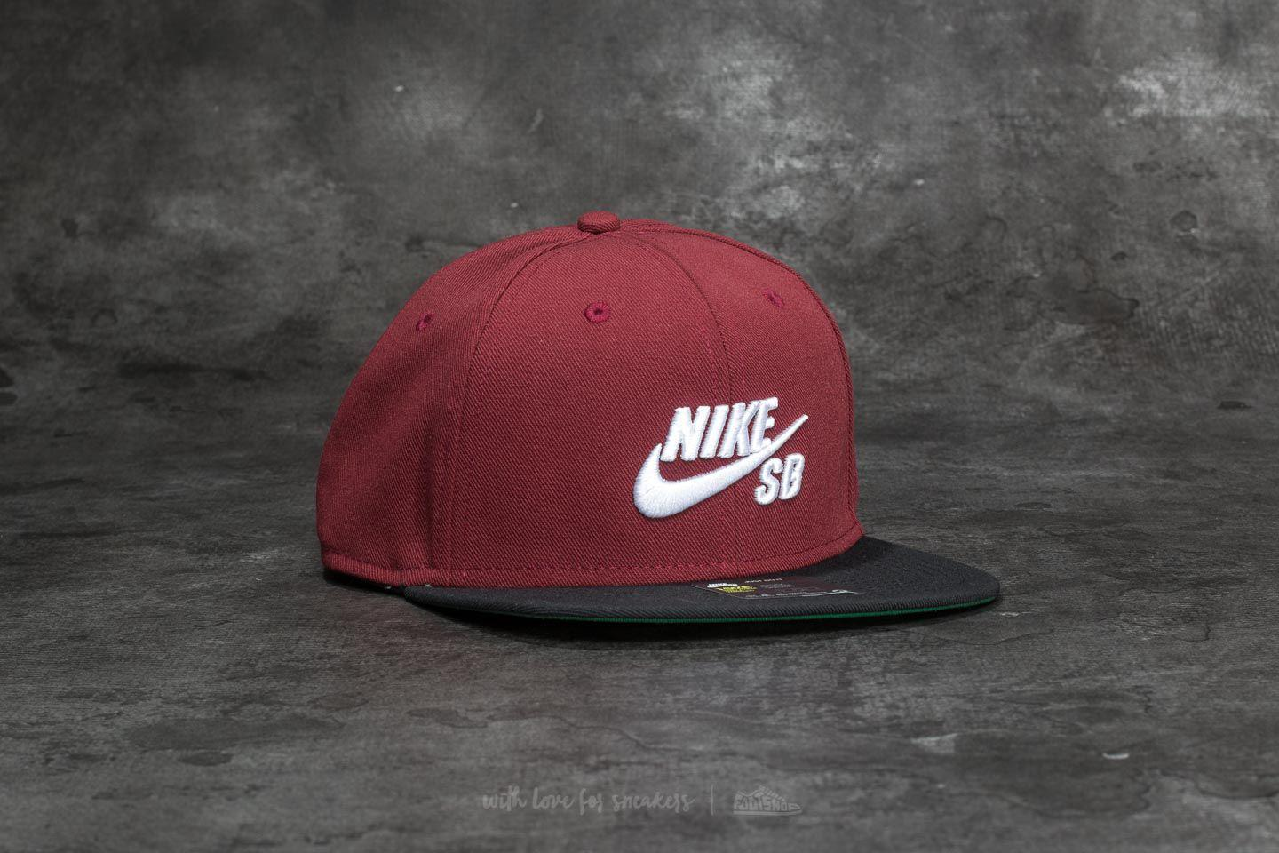 7fc4c04ca409b Lyst - Nike Sb Icon Pro Cap Dark Team Red  Black  Pine Green  White ...