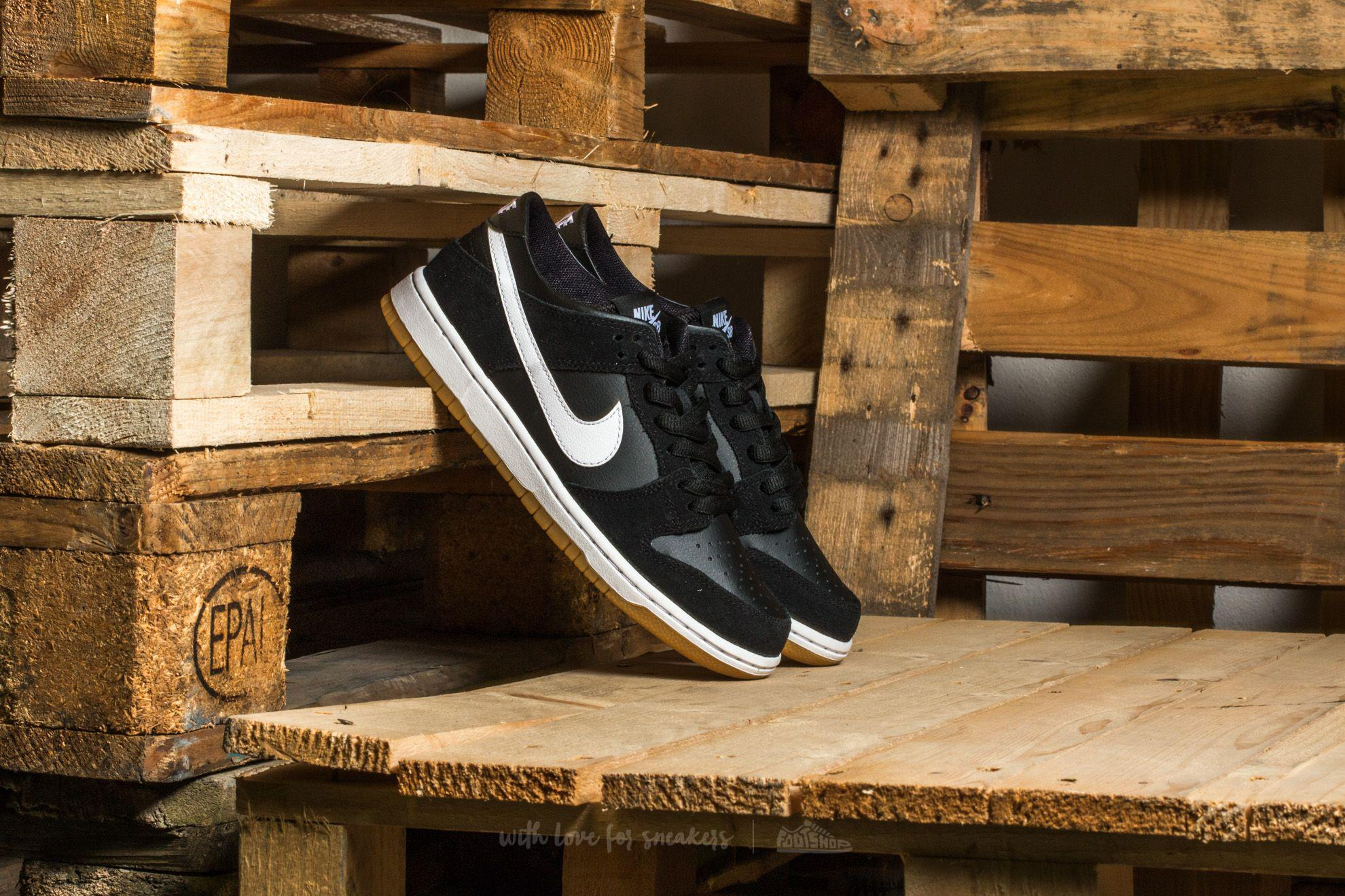 Nike. Men's Sb Zoom Dunk Low Pro Black/ White-gum ...