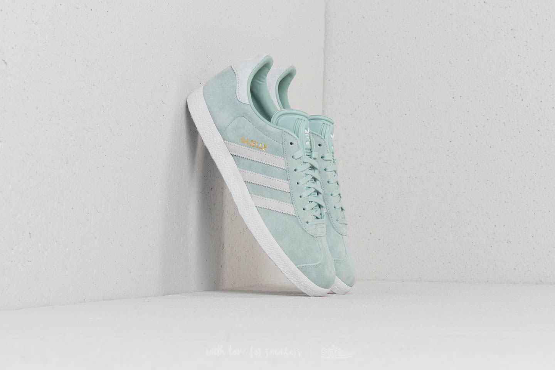 ace8195c3402 adidas Originals. Women s Adidas Gazelle W Ash Green  Ftw White  Blue Tint