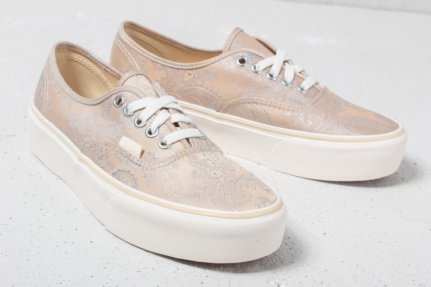 bfc0559279 Lyst - Vans Authentic Platform (satin Paisley) Nude  Snow in Natural