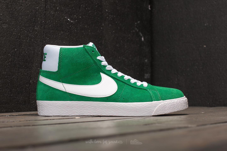 8ad8d471f79838 Lyst - Nike Sb Zoom Blazer Mid Pine Green  White in Green for Men