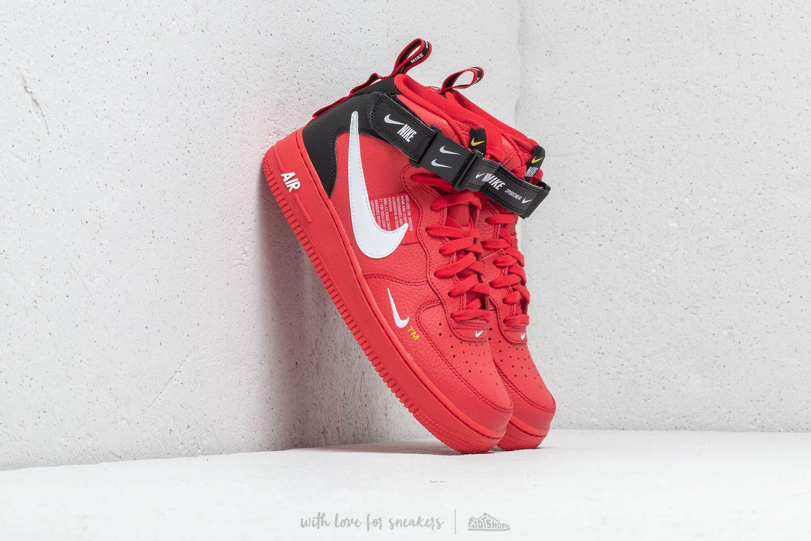 Lyst - Nike Air Force 1 Mid  07 Lv8 University Red  White- Black in ... 597d6f94d
