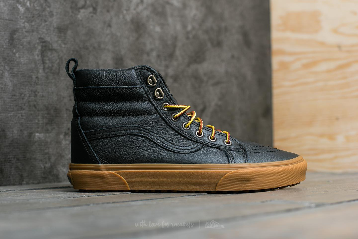 0d45f8686ad8 Lyst - Vans Sk8-hi (mte) Black  Leather  Gum in Black for Men