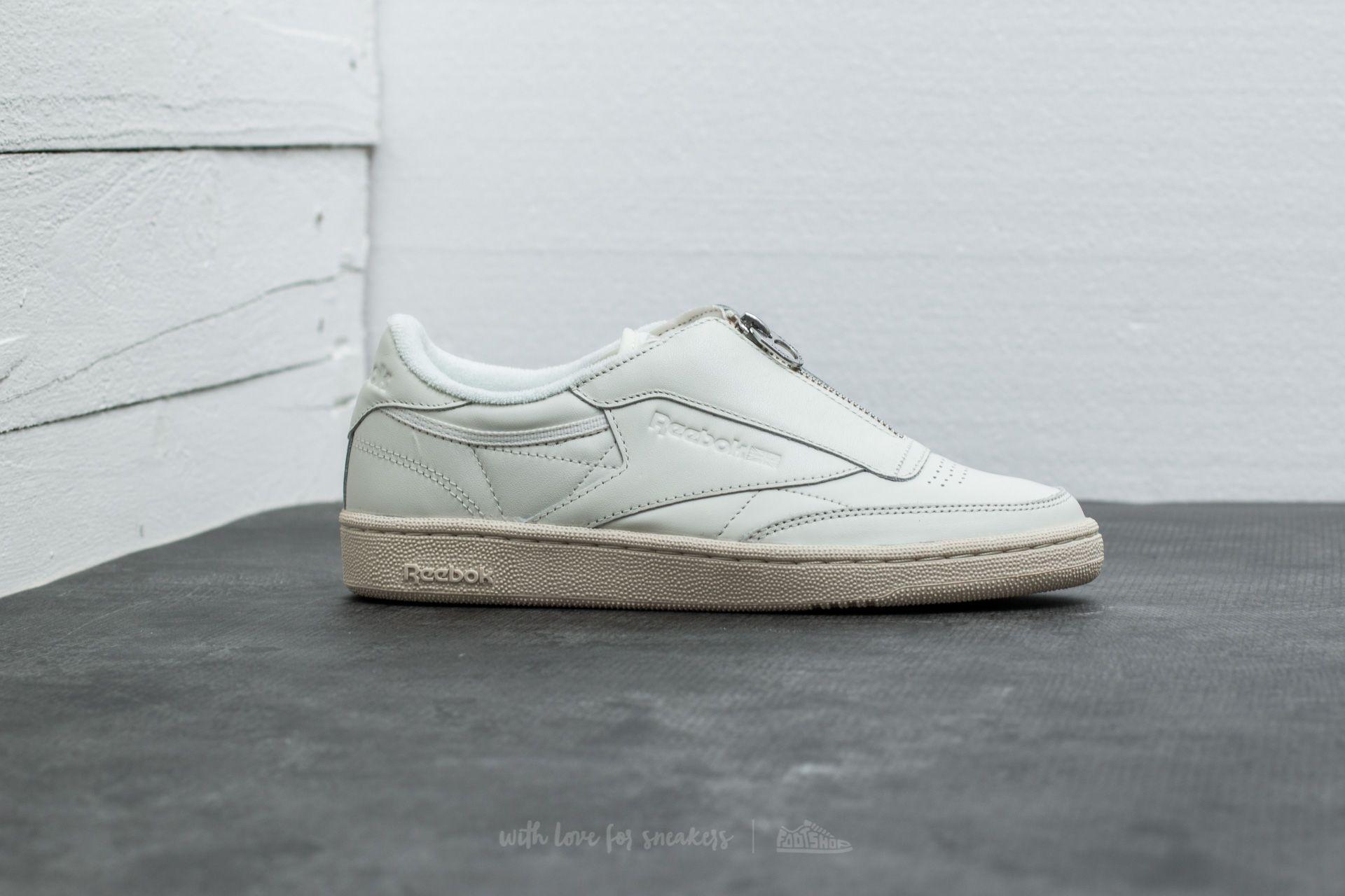 6cad966c8334 Lyst - Reebok Club C 85 Zip Chalk  Sandstone  White  Silver