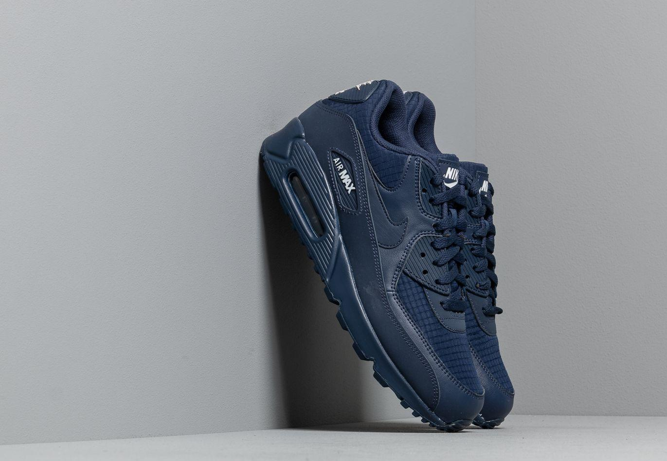 afae9141a2ab Lyst - Nike Air Max 90 Essential Midnight Navy/ White in Blue for Men