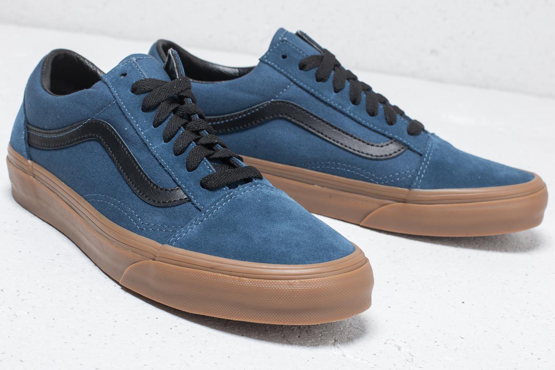 633c60187c Lyst - Vans Old Skool (gum Outsole) Dark Denim  Black in Blue for Men