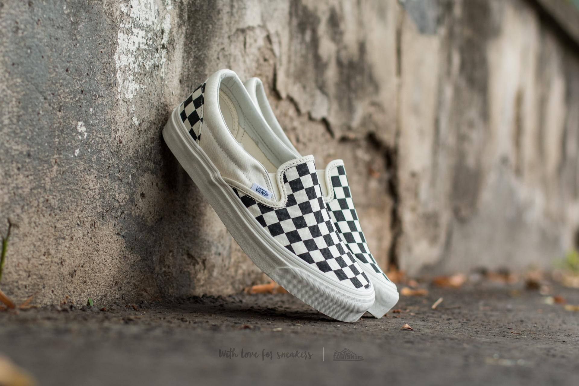 dd0f5e2f037 Lyst - Vans Og Classic Slip On Lx (canvas) Black  White Checkerboard ...