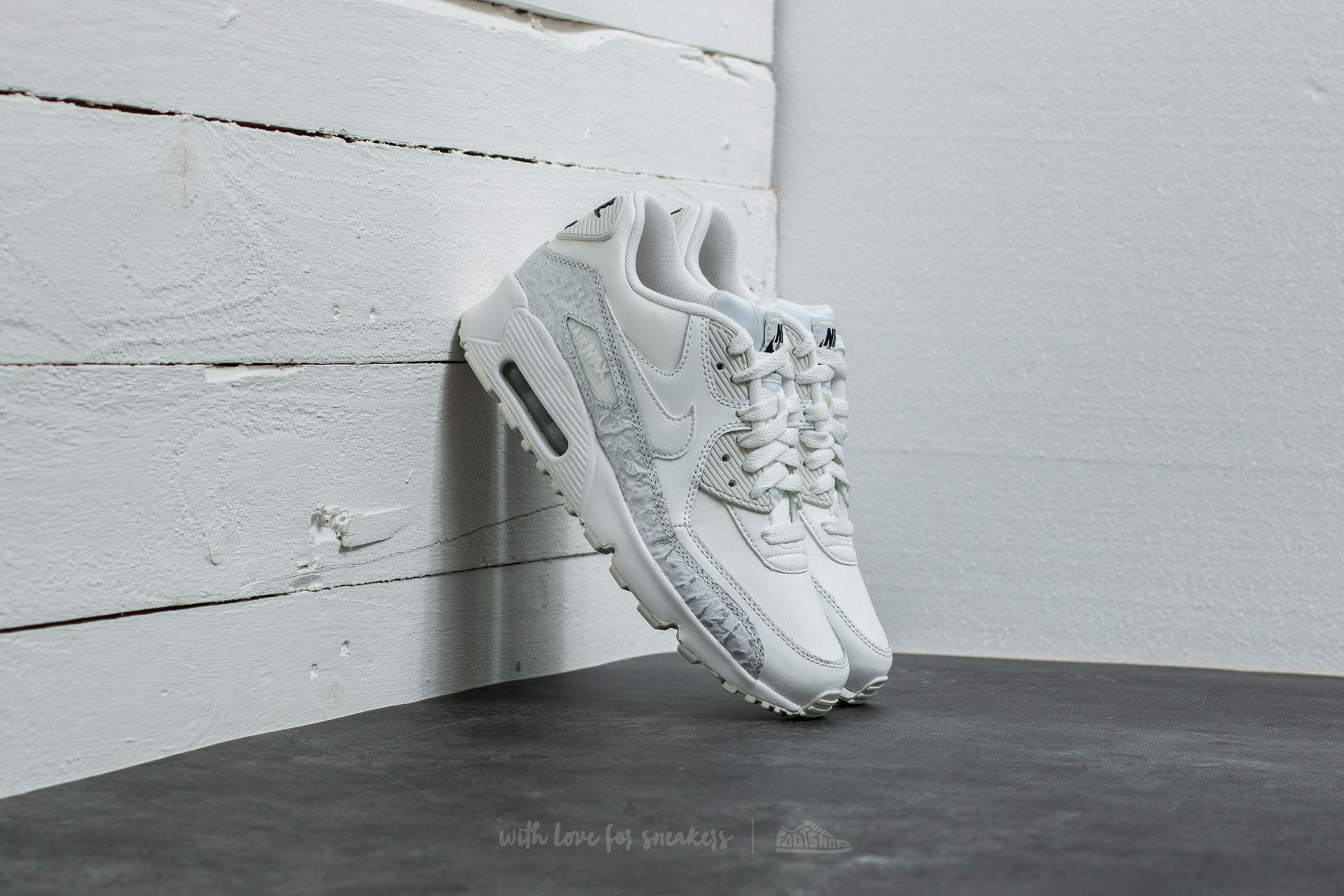 nike air max 90 leather summit white