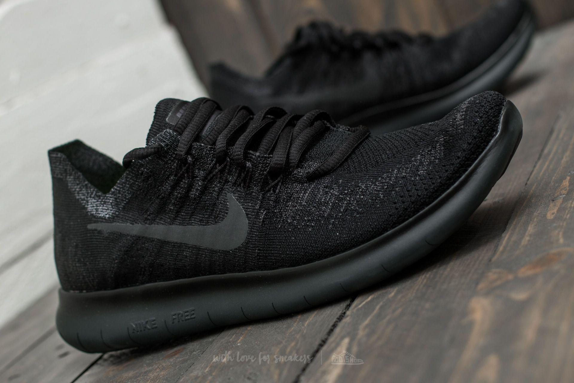 4ff335f0c5d Lyst - Nike Wmns Free Rn Flyknit 2017 Black  Anthracite-anthracite ...