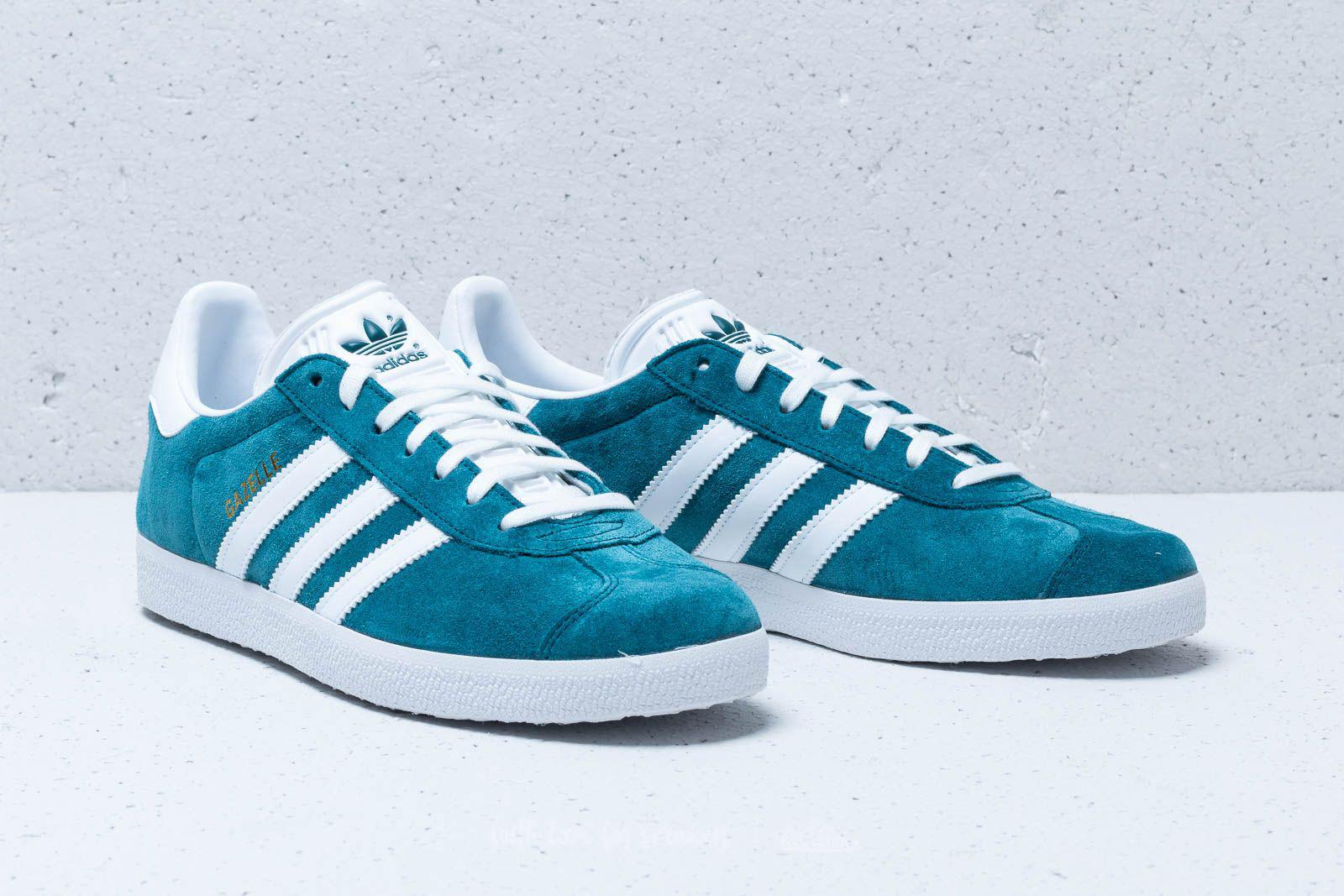 huge discount dc06b 55320 Adidas Originals - Adidas Gazelle Petrol Night Ftw White Ftw White for  Men -. View fullscreen