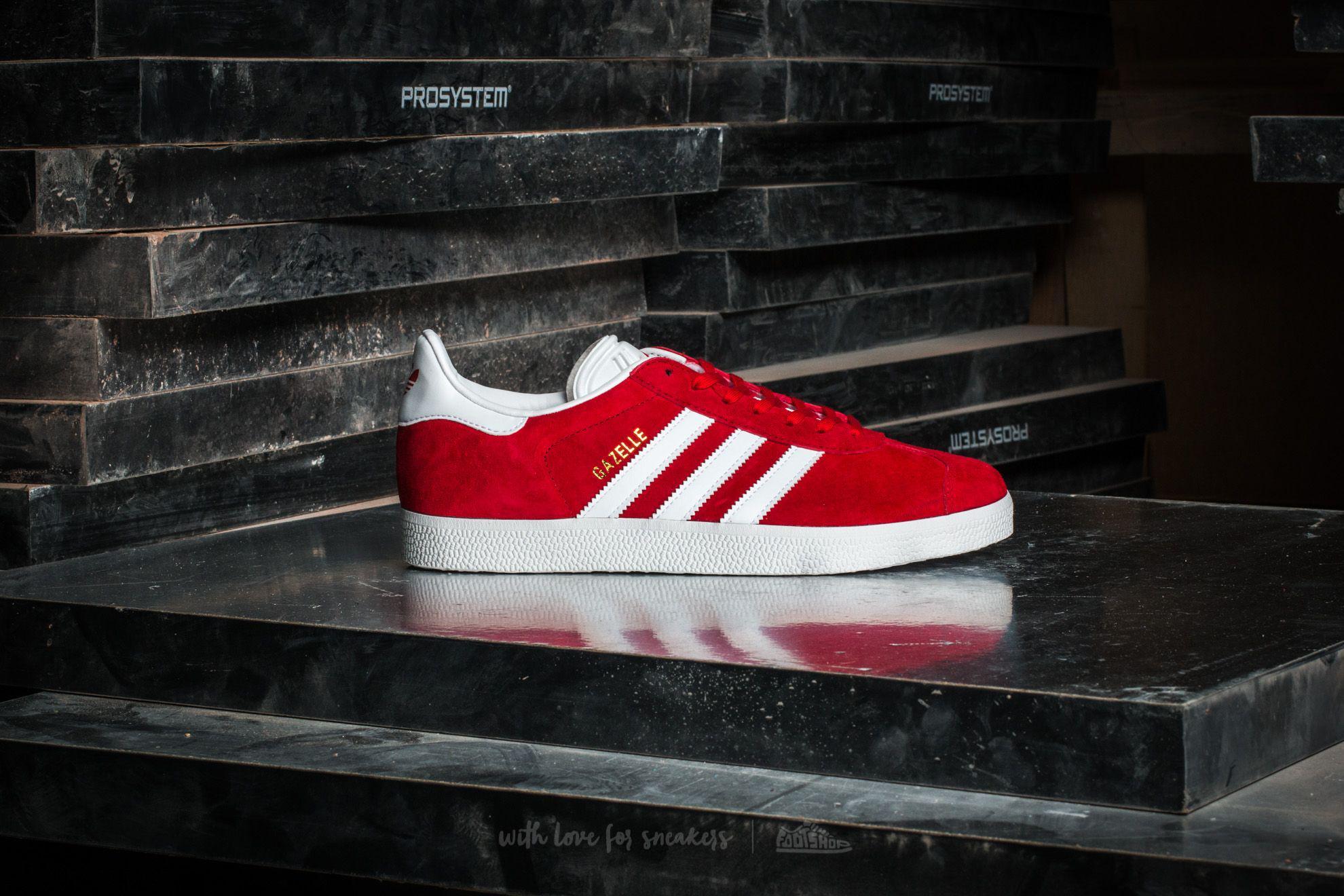Lyst adidas Originals Adidas Gazelle Scarlet / FTW blanco / oro