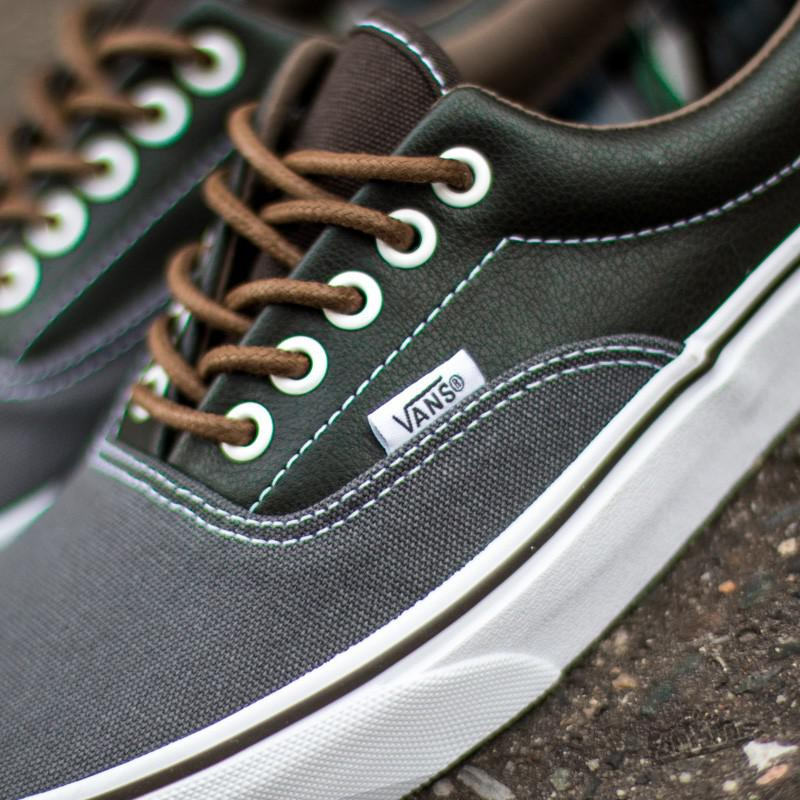 f118d712e50a Lyst - Vans Era Leather Plaid Asphalt  Beluga for Men