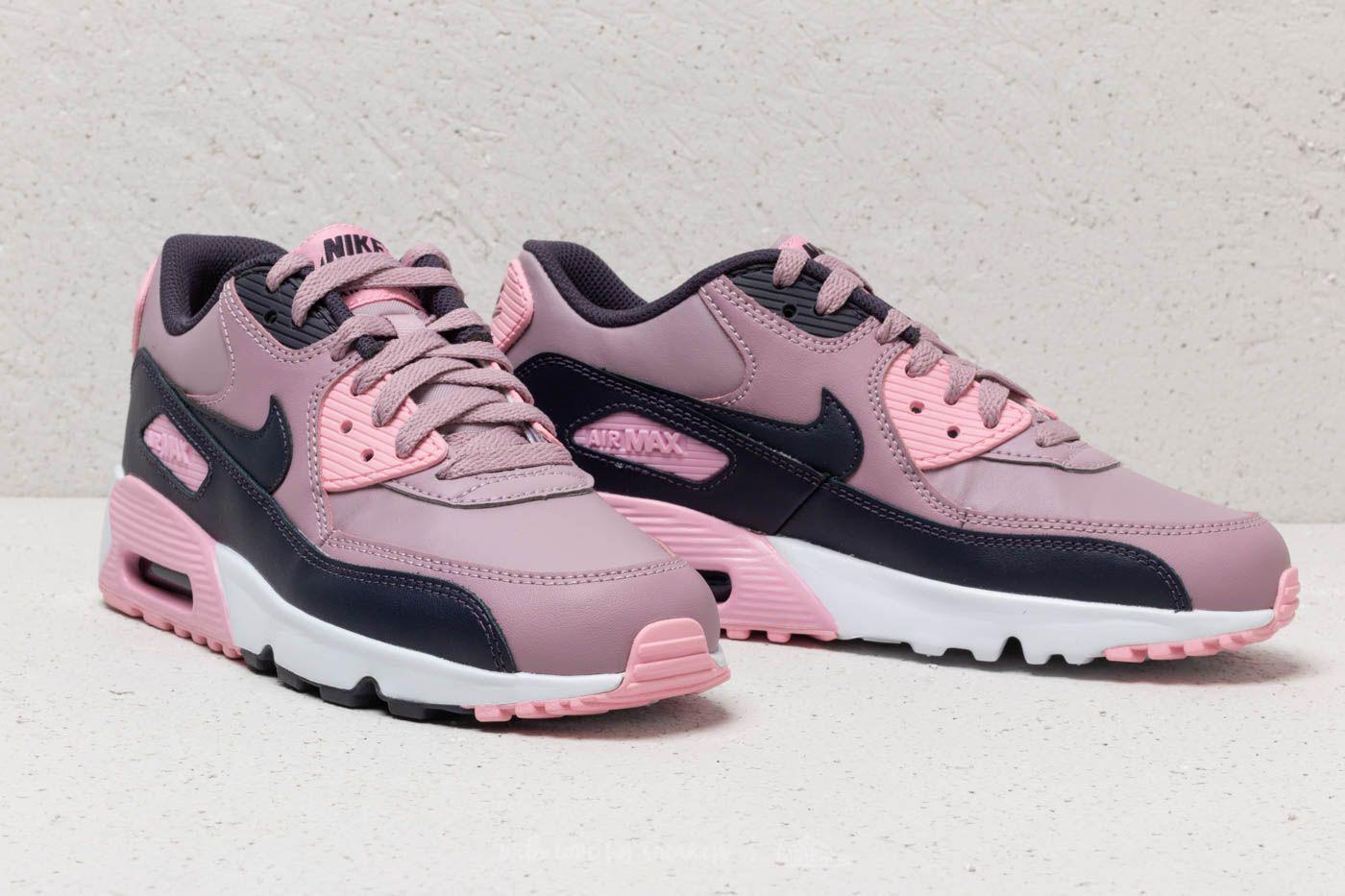 fdc712eba95c Lyst - Nike Air Max 90 Leather (gs) Elemental Rose  Gridiron-pink in ...