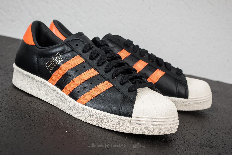 376501557b9ee9 Lyst - adidas Originals Adidas Superstar Og Core Black  Tra Orange ...