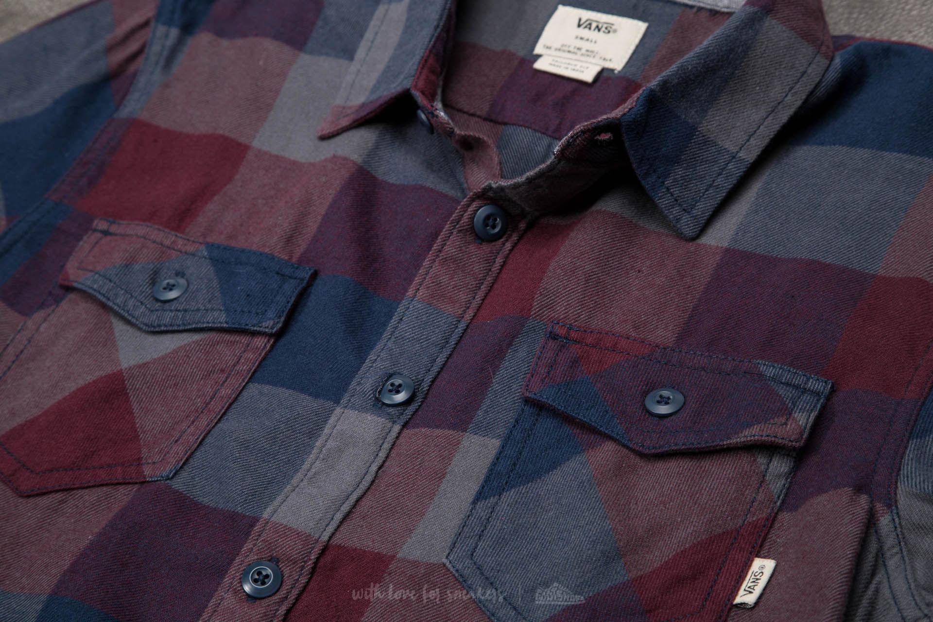444c10a545 Lyst - Vans Box Flannel Shirt Dress Blues-port Royale in Blue for Men
