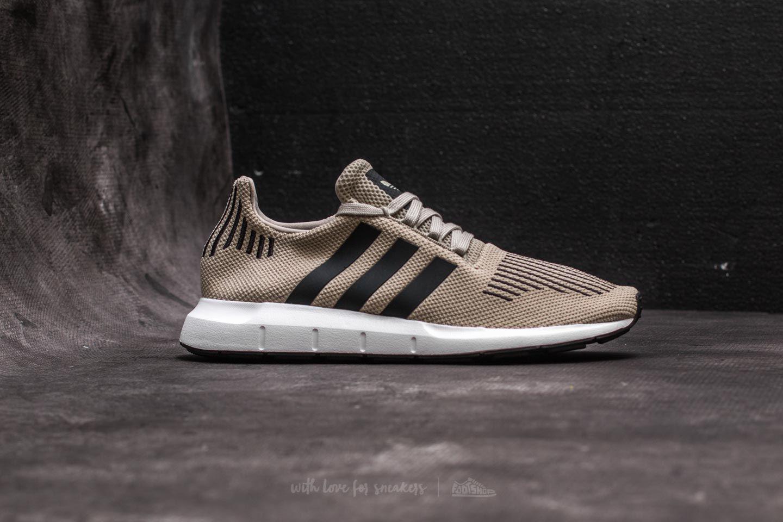 9c338f0b31caa top view of mens adidas swift run running shoes in sesame core black
