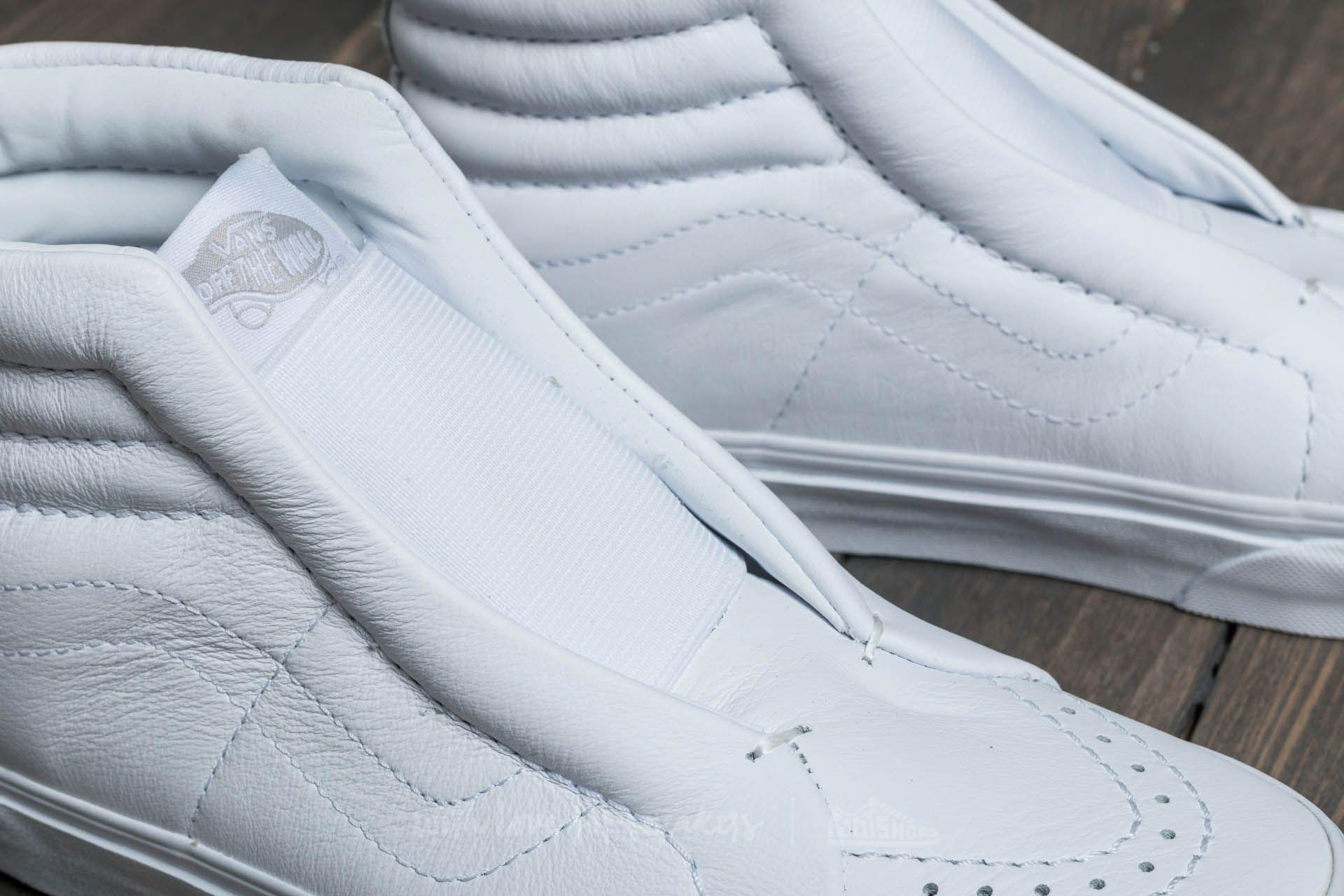 a0987f1706a9 Lyst - Vans Sk8-hi Reissue Laceless (leather) True White in White ...