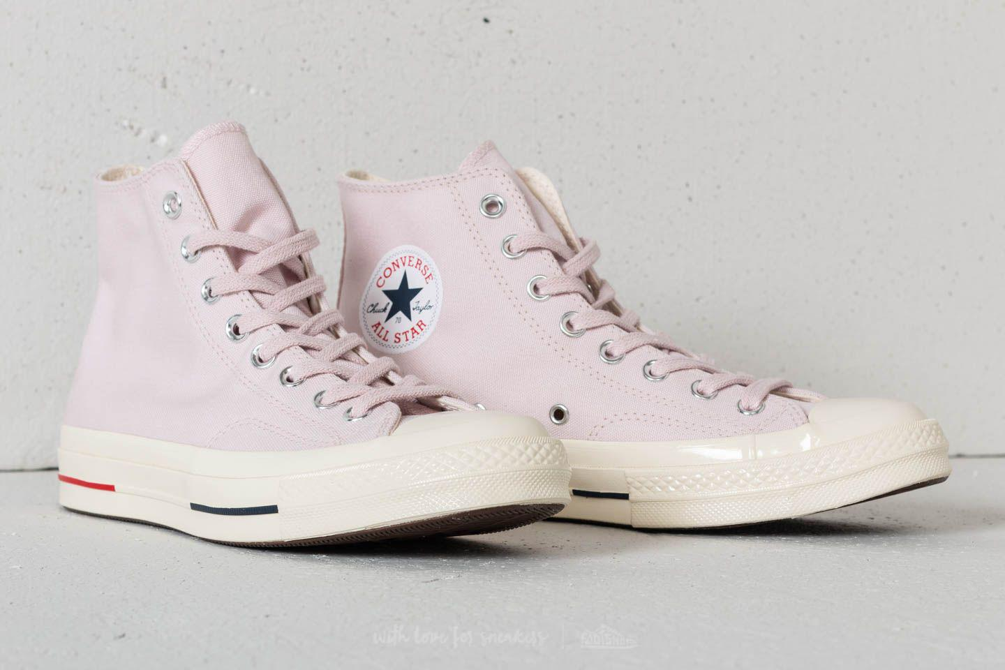 4124f5c044e2 Lyst - Converse Chuck Taylor All Star 70 Hi Barely Rose  Gym Red ...
