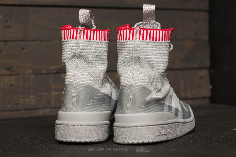 buy popular f6015 0be77 Lyst - adidas Originals Adidas Forum Winter Primeknit Grey T