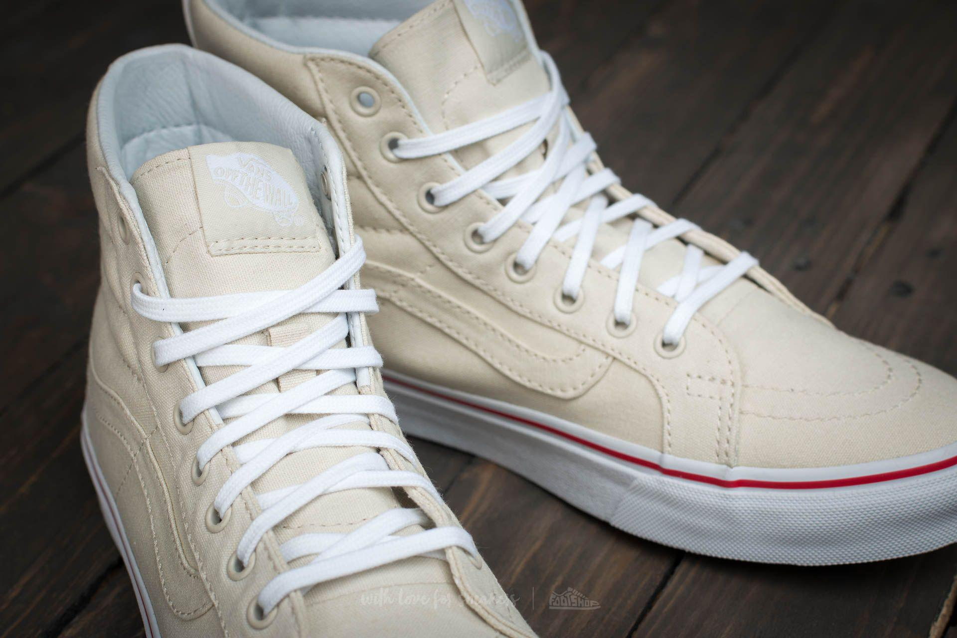 Lyst - Vans Sk8-hi Slim (leather Canvas) Bone  True White for Men a819d41cc