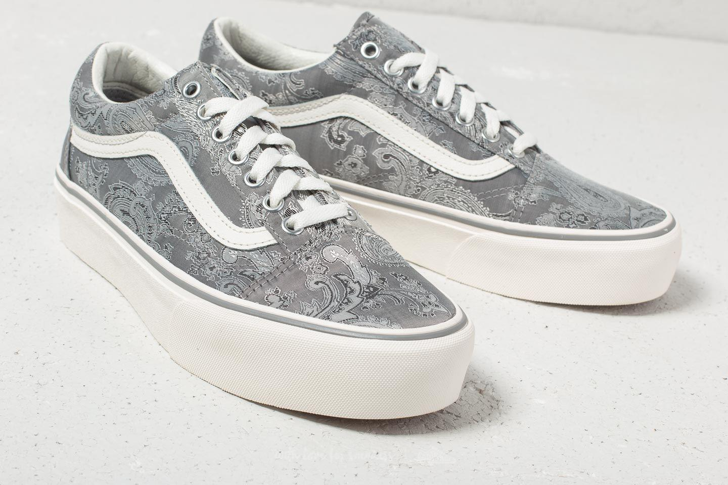 d6694cf85f3 Lyst - Vans Old Skool Platform (satin Paisley) Gray  Snow in Gray ...