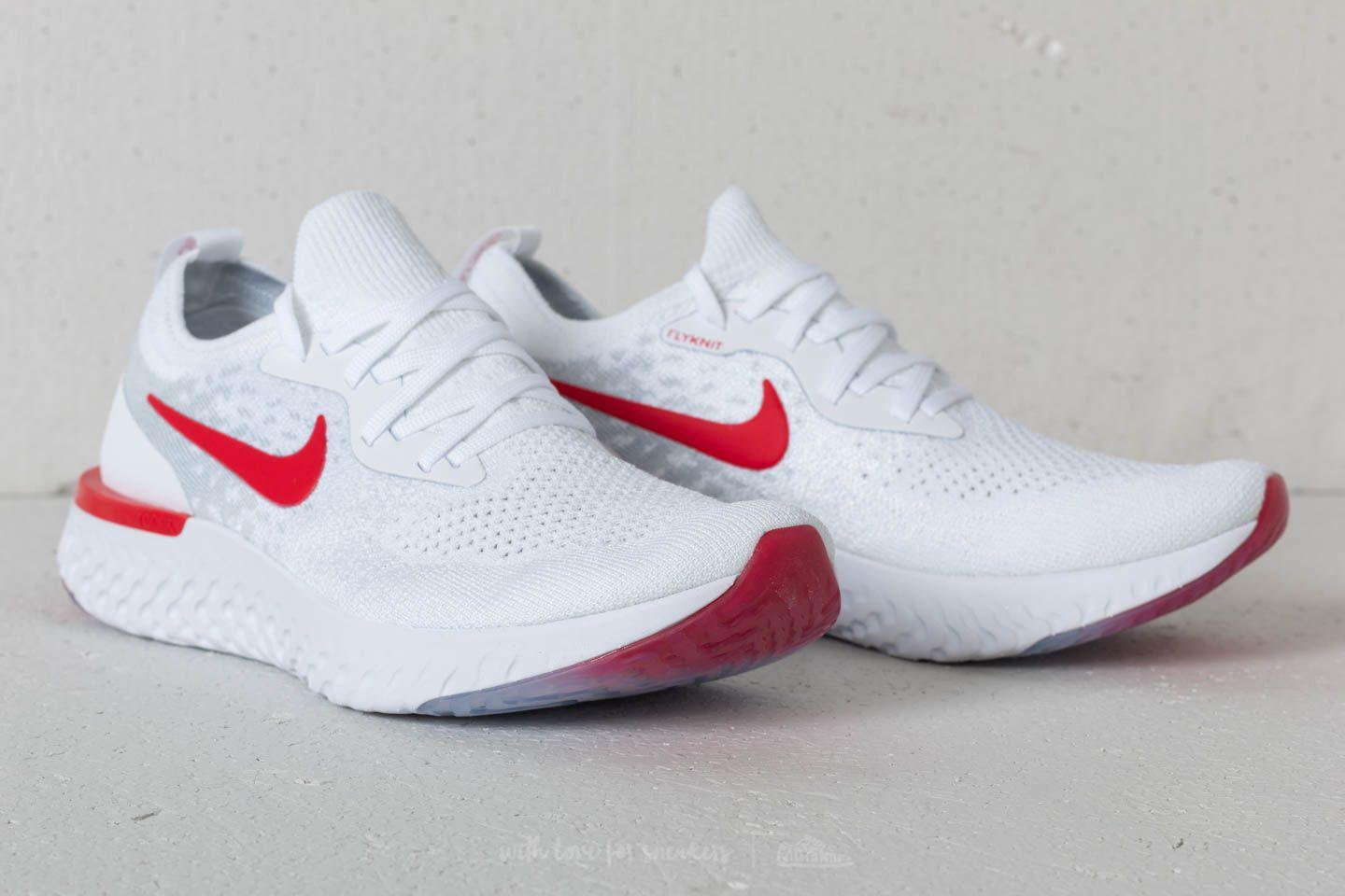 save off 20d24 9b7d3 ... sale nike epic react flyknit gs white university red for men lyst. view  fullscreen bcf1f