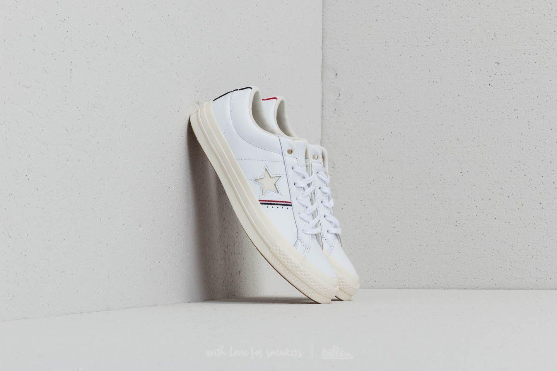 e51b8326980376 Lyst - Converse One Star Ox White  Enamel Red  Egret in White for Men
