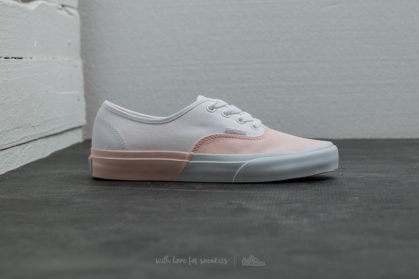 2bbdef4d39d1 Lyst - Vans Authentic (blocked) Pearl  True White