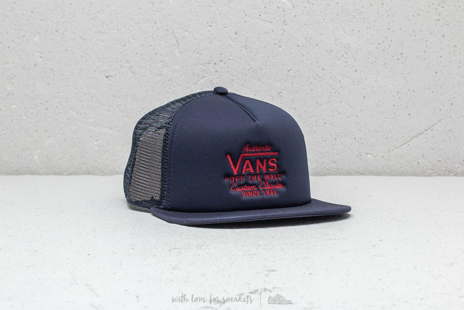 fd896e3114f Lyst - Vans Galer Trucker Cap Dress Blue in Blue for Men