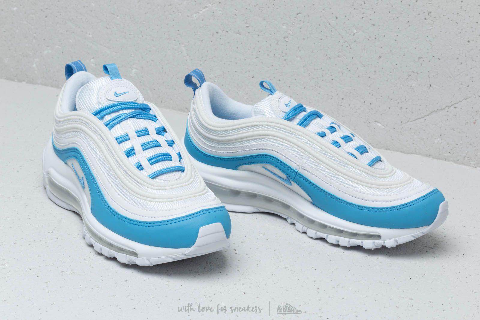 651a6ccddd0af7 Nike - W Air Max 97 Ess White  University Blue - Lyst. View fullscreen