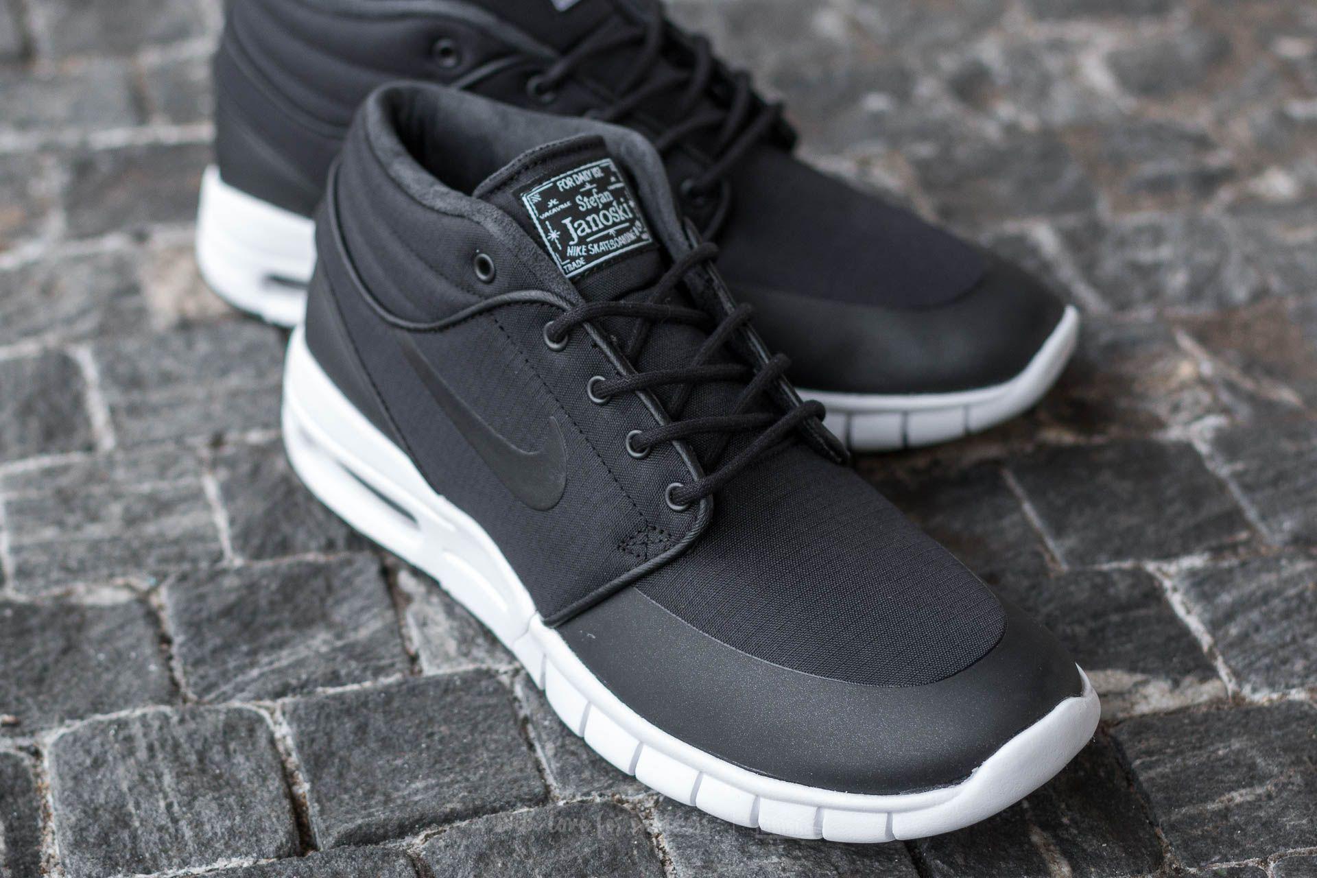 17739ea385df Lyst - Nike Stefan Janoski Max Mid Black  Black-metallic Silver in ...