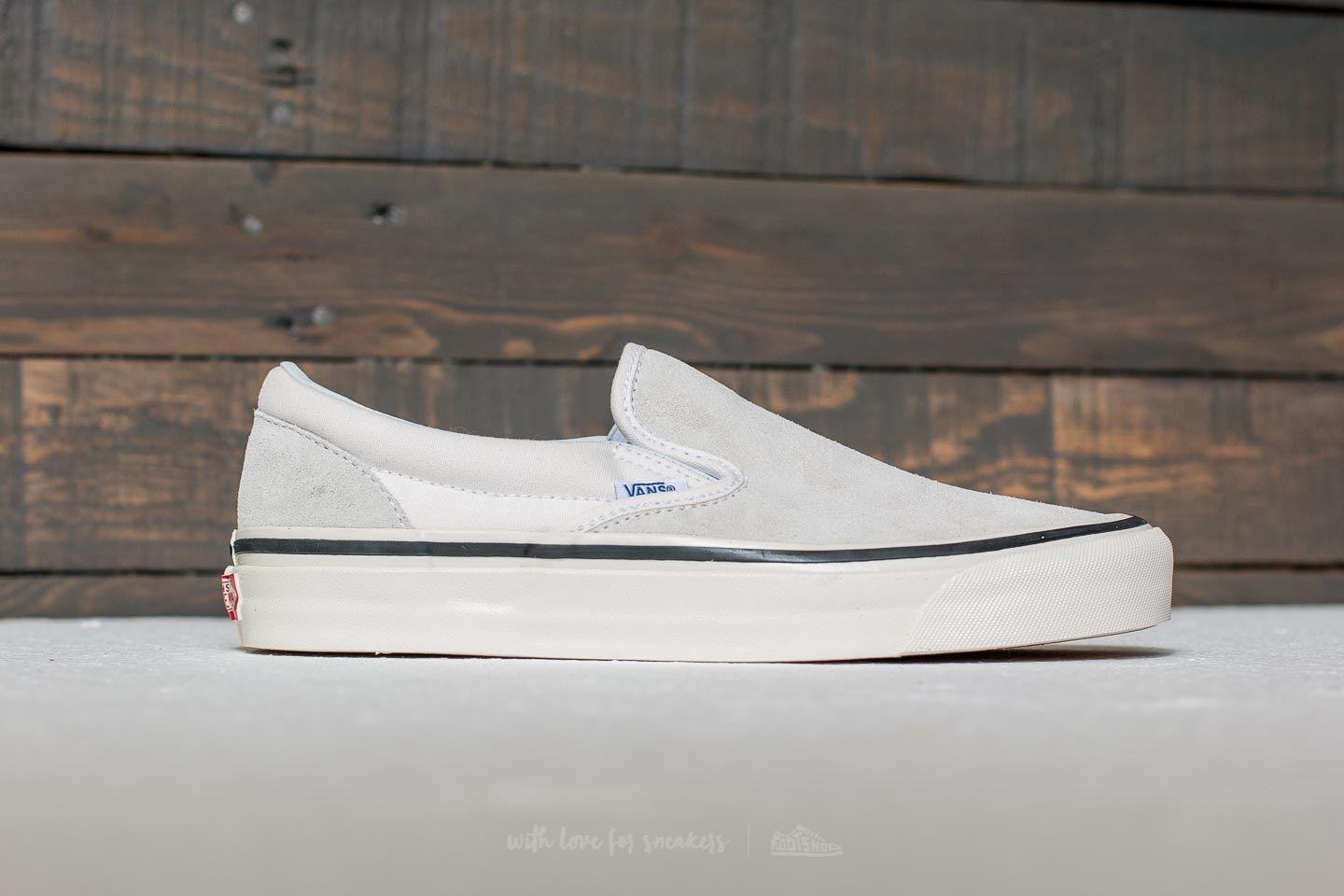 4ca9ad8ddf Lyst - Vans Classic Slip-on 98 (anaheim Factory) Suede  Og White for Men