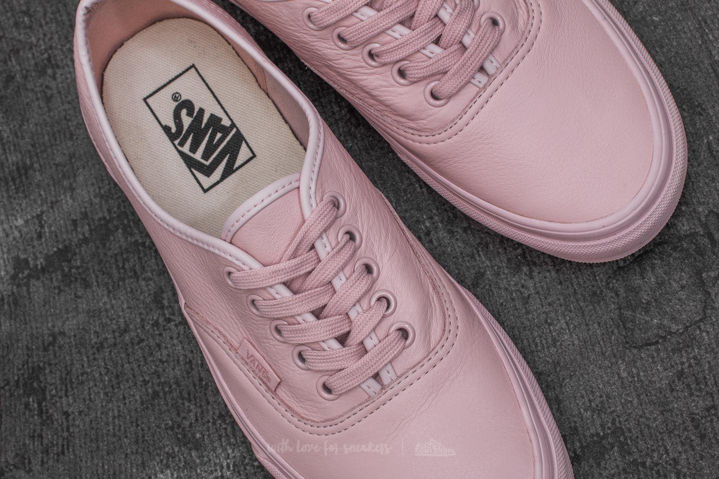 8b9f6d3a00d Vans Authentic (leather) Mono  Sepia Rose - Lyst