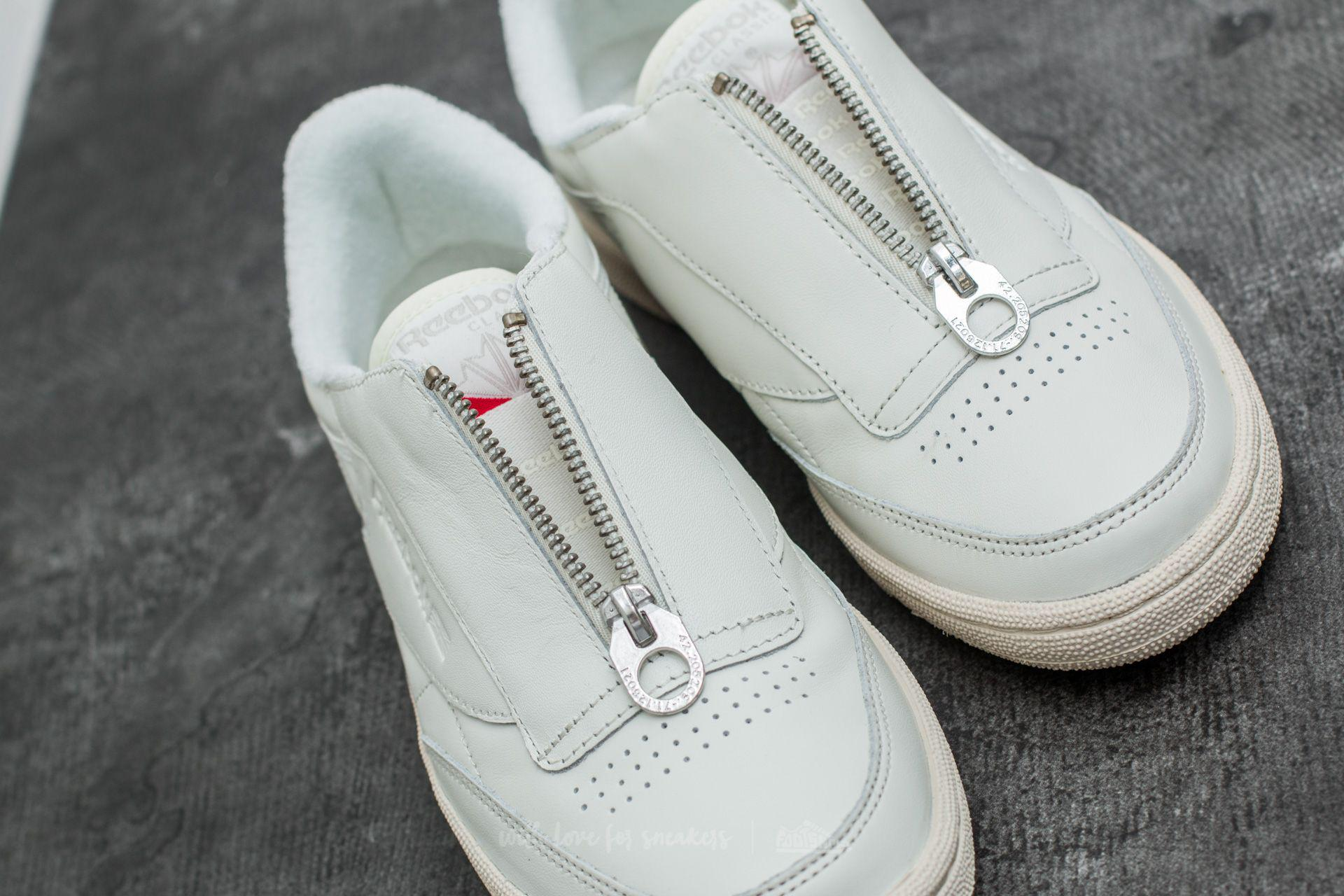 88836525efa862 Lyst - Reebok Club C 85 Zip Chalk  Sandstone  White  Silver
