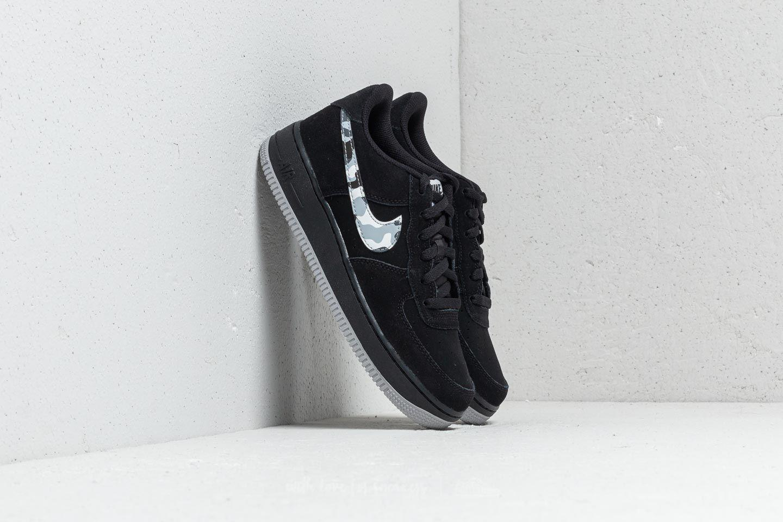 Lyst - Nike Air Force 1 (gs) Black  Wolf Grey-dark Grey in Gray for ... 8116b7d07ee0