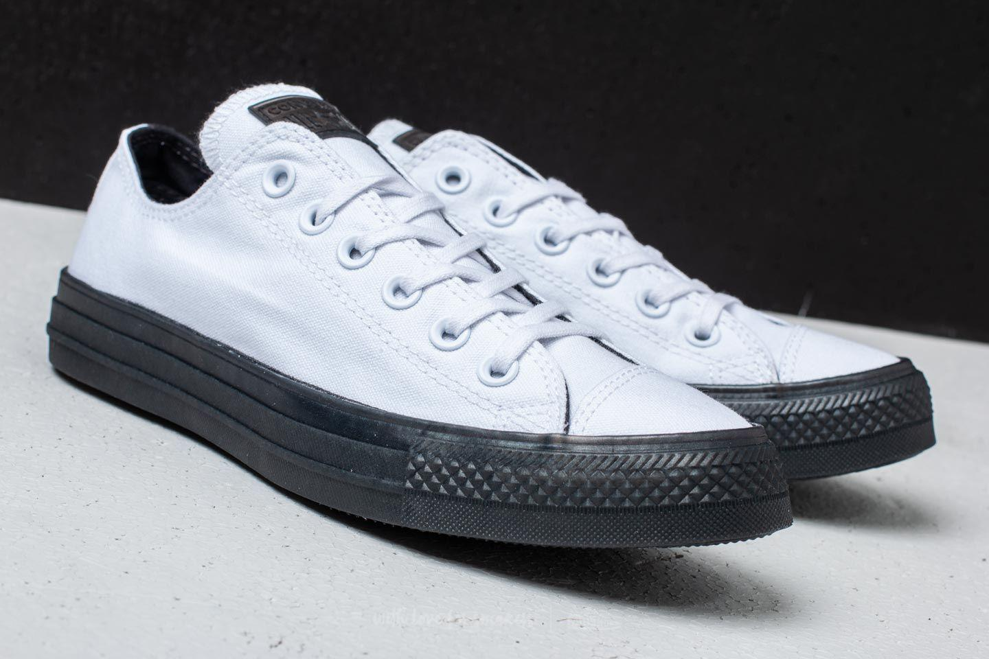 a485d7e71727d0 Lyst - Converse Chuck Taylor All Star Ox White  Almost Black in Black
