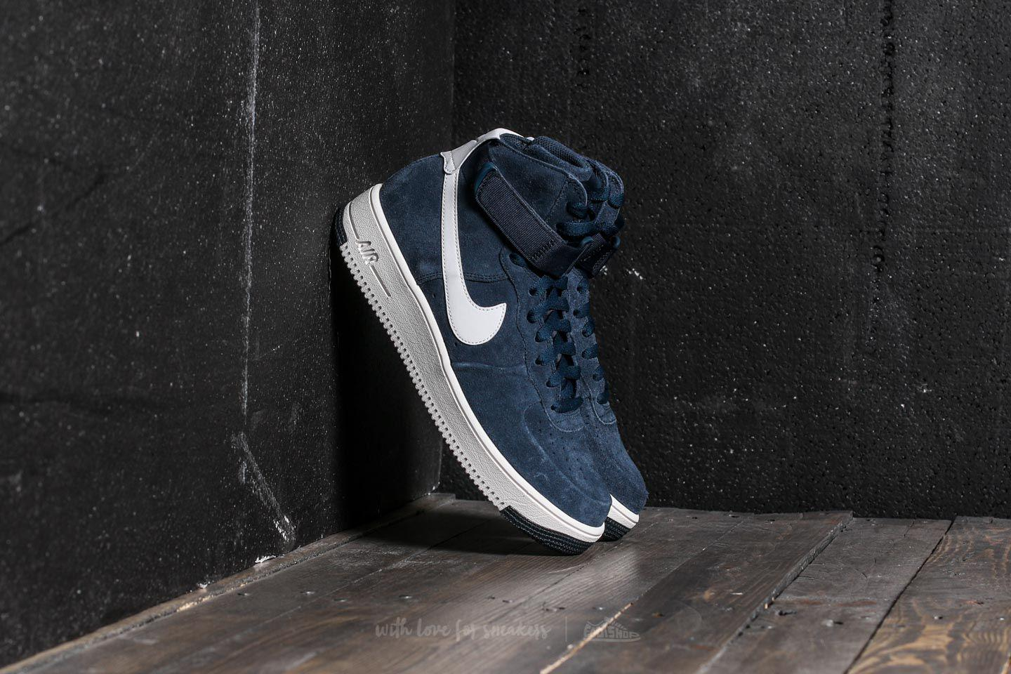 Nike. Men's Blue Air Force 1 Ultraforce Hi Armory Navy/ Summit White