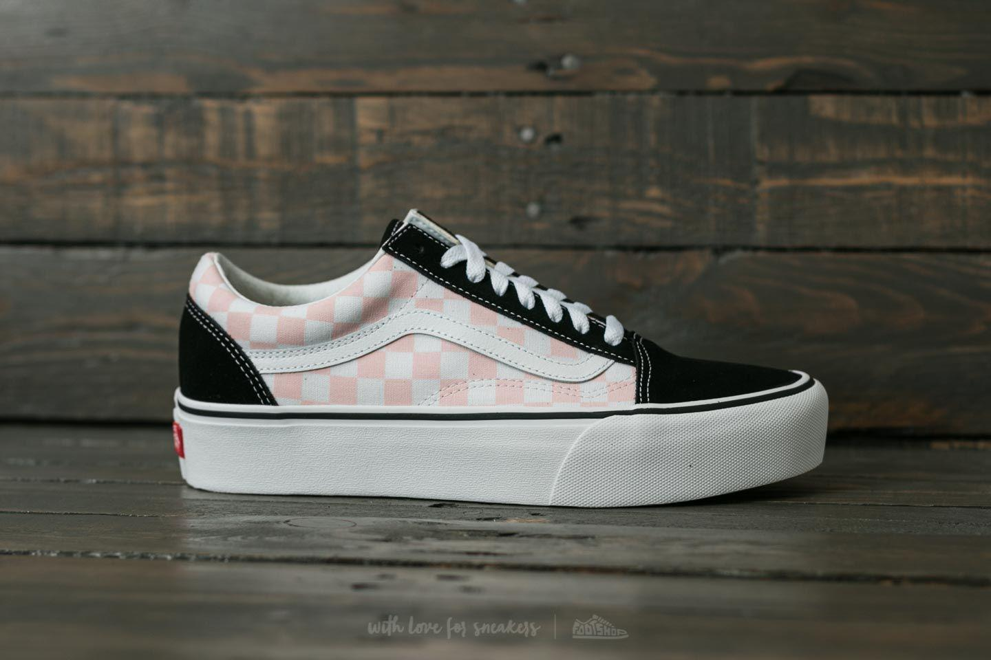 vans platform old skool checkered
