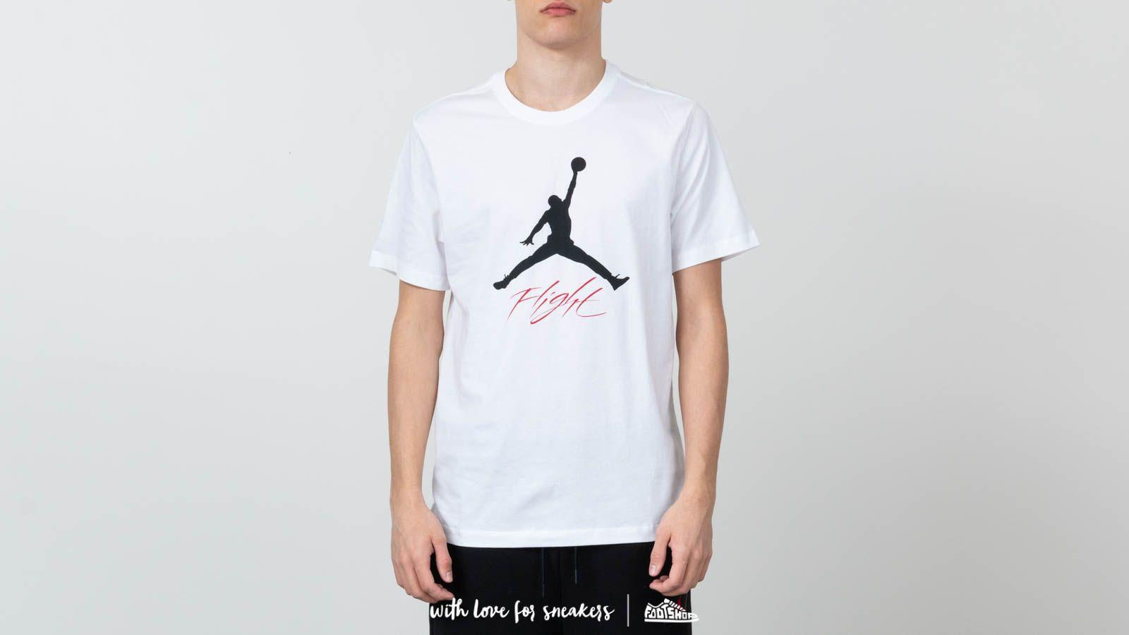 b6f8ac6f6107 Lyst - Nike Air Jumpman Flight Tee White  Black in White for Men