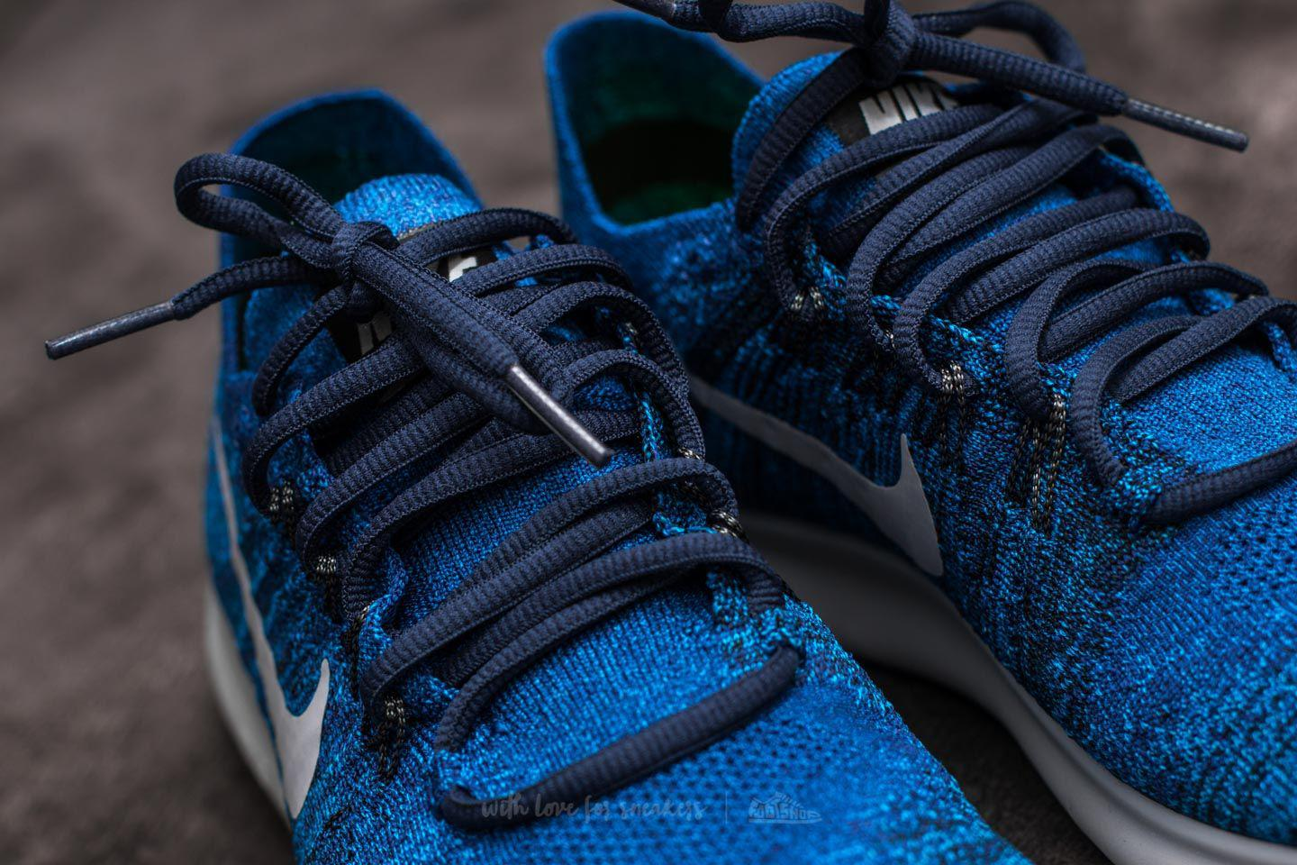 outlet store 468a3 ae5f0 Lyst - Nike Free Run Flyknit 2017 Deep Royal Blue  Wolf Grey in Blue ...