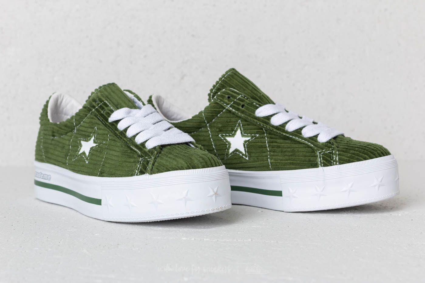 d4249140898 Lyst - Converse X Mademe One Star Platform Ox Garden Green in Green
