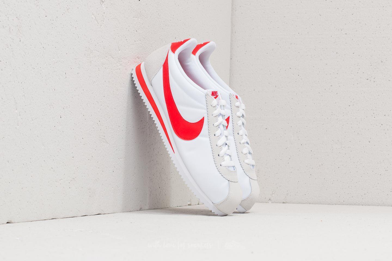 timeless design 2e99b 21784 Lyst - Nike Classic Cortez Nylon White Habanero Red for Men