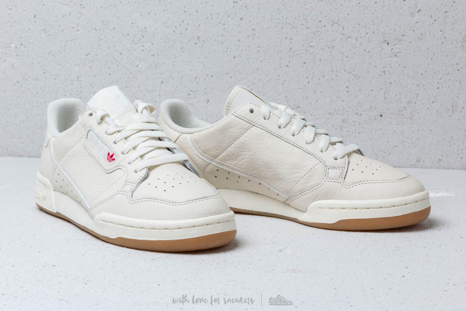 0cfb3082a0fcd6 Lyst - adidas Originals Adidas Continental 80 Off White  Raw White ...